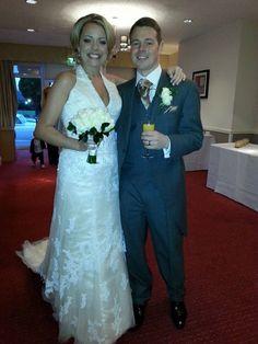 Stunning bride in a Diane Harbridge gown