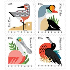 Coastal Birds stamps by Always With Honor