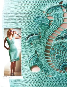 Mint dress #free #crochet #knit #patterns #charts #diagrams