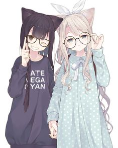 Anime Neko Girls (⁎˃ᆺ˂) Anime Girl Neko, Fille Anime Cool, Art Anime Fille, Lolis Neko, Cool Anime Girl, Cute Anime Chibi, Pretty Anime Girl, Chica Anime Manga, Cute Anime Pics