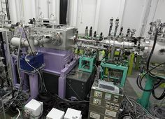 Photograph of the experimental setup used to achieve a copper atomic x-ray laser