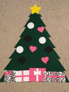Interactive Felt Christmas Tree  The Kendall by MyPetiteGGBoutique