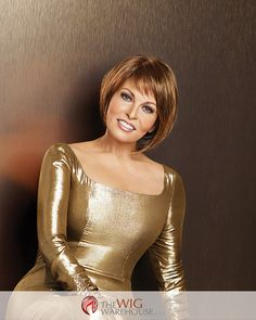The modern look of the Bewitched by Raquel Welch brings together a classic pageboy cut with the added dimension of an asymmetrical finish for a style that is sleek, refined, and cutting edge. This smo