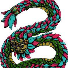Quetzalcoatl #illustrator #illustration #ilustracion #digitalart #digital #mexican #mexico #prehispanic #prehispanico #god #prehispanicgod #history