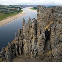 The Olenyok River in Siberia