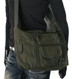 Vintage style military look messenger shoulder sling bag