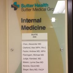 Sutter Medical Group internal medicine physicians Alexander Chen, MD; Andrew Factor, MD; Michael Flaningam, MD and Kay Judge, MD have relocated to a beautiful new office located at 1201 Alhambra Blvd., Suite 400.