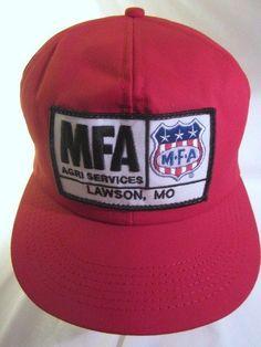 142468ad6ff Vintage MFA Agri Services Ball Cap Snapback Trucker Hat Lawson Missouri Mo   MFA  LawsonMo  farmlife