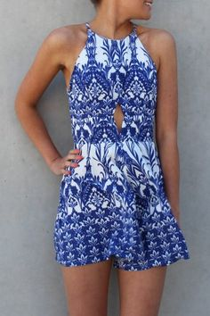 Greece Playsuit The GREECE PLAYSUIT is super cute and perfect for a day or night.  A matte cotton feel in this stunning blue and white print.  SO in love! $49.00 SHOP ll http://www.jeanjail.com.au/ladies/greece-playsuit.html
