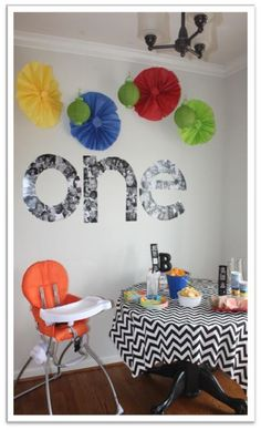 one year in a flash! This blog has a ton of cute 1 yr. old ideas!! check it out! - decorating-by-day