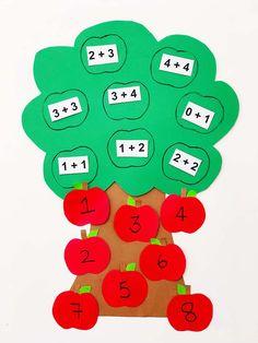 APPLE MATH TREE LEARNING ACTIVITY - Hello Wonderful
