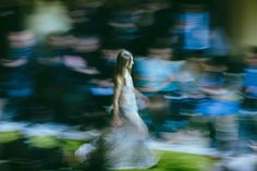 Roberto Cavalli - Taken from a vantage point high above the runway, I got the chance to show what a surreal blur fashion month can be.
