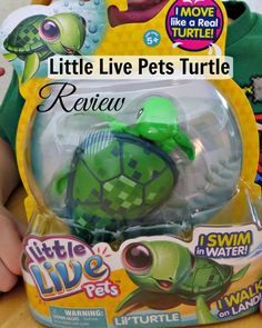 Little Live Pets Turtle Review READ HERE http://www.best-gifts-top-toys.com/2015/12/tyler-loves-the-little-live-pets-turtle-toy/