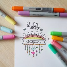 #hello #august #drawing #markers #art #instaart #inspiration #doodle #lettering #рисунок #творчество #маркеры