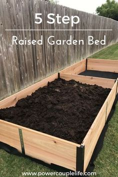 Garden Landscaping 5 Step Raised Garden Bed - How to build a raised garden bed in 5 quick steps - After building our smart and sustainable home, we wanted to grow more of our own fruit and vegetables using raised garden beds in our backyard. Raised Vegetable Gardens, Vegetable Gardening, Vegetable Boxes, Raised Bed Gardens, Veggie Gardens, Flower Gardening, Home Vegetable Garden Design, Raised Herb Garden, Raised Garden Bed Plans