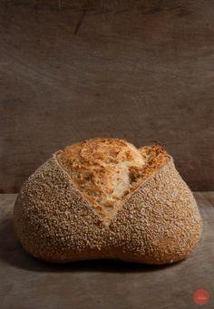 Semolina & whole oat flour bread #bread #sourdough #homemadebread