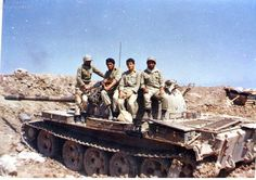 Iran Army Polish made T-55 tank Iran-Iraq War.