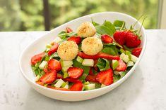 Salade de chèvre chaud croustillant!  360 calories / 40 g glucides / 17 g protéines / 17 g lipides / 7 g fibres