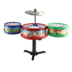 $19.62 - Awesome Children Musical Instruments Toy Kids Colorful Plastic Drum Drum Kit Set High Quality - Buy it Now!