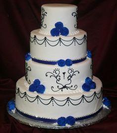 Royal Blue wedding cake  Keywords: #royalblueweddings #jevelweddingplanning Follow Us: www.jevelweddingplanning.com  www.facebook.com/jevelweddingplanning/