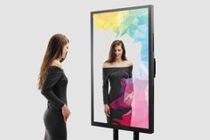 Interactive mirrors are an innovative space where you'll see much more than just your reflection Interactive Mirror, Glass Mirrors, Reflection, Gadgets, Advertising, Polaroid Film, Events, Gadget
