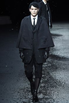 I want to see how this womenswear-inspired menswear translates back into womenswear. Thom Browne - Fall 2015 Menswear.