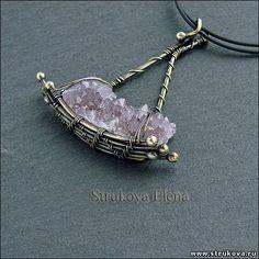 Strukova Elena - кулон.. Love this concept and color scheme!