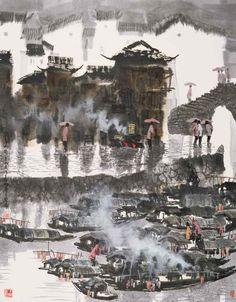 Chinese artis Xuzhen Wu (b1940 In Shaoxing, China)