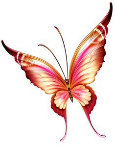 Красивые рисованные бабочки в PNG. Обсуждение на LiveInternet ...