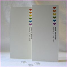 Rainbow Hearts Gay Wedding, Same Sex Marriages, Civil Partnership (inspired by the freedom flag) invitations and stationery - save the date ...