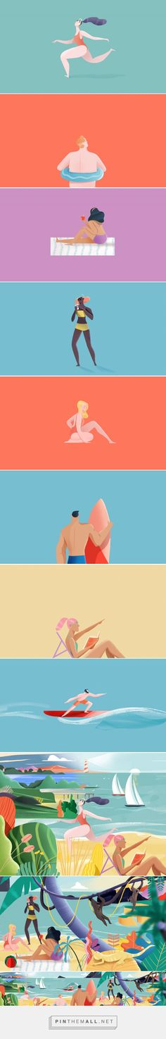 Playa Game on Behance... - a grouped images picture - Pin Them All
