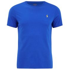 Polo Ralph Lauren Men's Custom Fit Crew Neck T-Shirt - New Iris (255 BRL) ❤ liked on Polyvore featuring men's fashion, men's clothing, men's shirts, men's t-shirts and blue