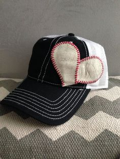 Check out our MOST POPULAR DESIGN! You pick the hat color, we make it cute and fun with a one of a kind Baseball Heart! *****VERY