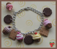 cute charm bracelet out of polymer clay
