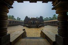 Chennakesava Temple on a rainy day
