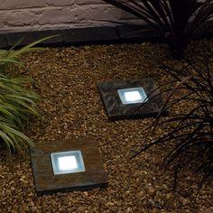 Solar Slate Step Lights