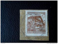 RARE 80 G AUSTRIA RARE OSTERREICH LETTRE STAMP ON PAPER COVER USED SEAL - 1945-.... 2nd Republic