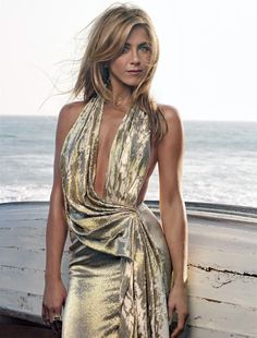 amazing liquid gold dress.