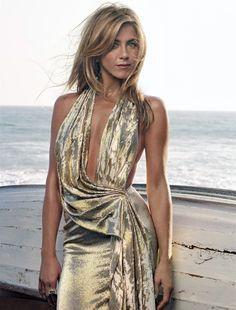 amazing liquid gold dress.
