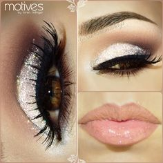 Eyelashes that you see are long, because of makeup (mascara). and the eye makeup really pops out the eye and the lips are perfectly well shaped, because of the lipstick is like a pinkish sort of color ... ! <3 #69 #pinit ( :