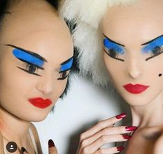 Gareth Pugh... make up for the RTW SS 16 show in London