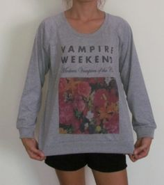 Ladies Vampire Weekend Long Sleeve TShirt Free by RuayClothing, ฿599.00