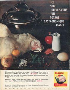 Crème de volaille Maggi - Elle, 8 avril 1960