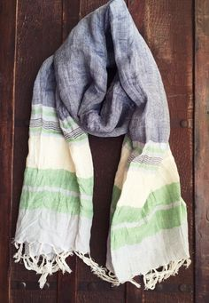 #linen #striped #scarf