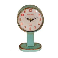 Metal On Stand Round Clock