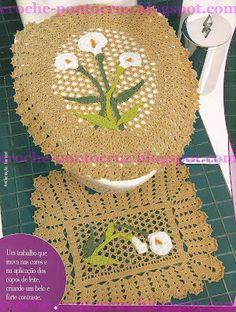 Cala lilies bathroom set with diagrams