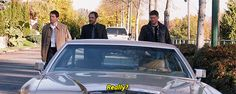 "[gif]  ""Really? What are you, a pimp?"" - Crowley about Cas' wheels   #Supernatural  9.10  Road Trip"