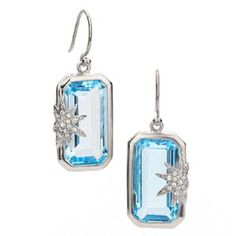 Hope star deco earrings in topaz from The Honeybee Collection.