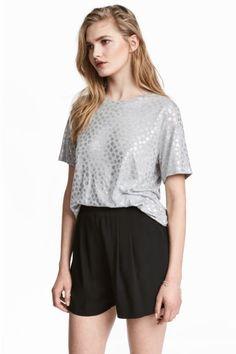 Pantalón corto holgado - Negro - MUJER | H&M ES 1