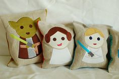 WANT FOR FUTURE NURSERY!    mini star wars pillows by meringuedesigns, via Flickr